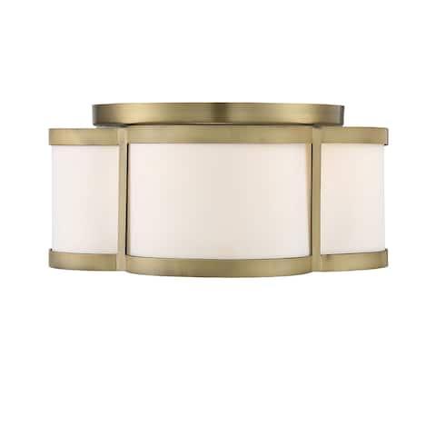 Lacey 3 Light Warm Brass Semi Flush