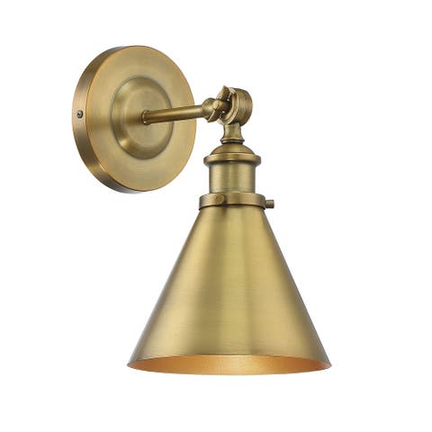 Glenn 1 Light Warm Brass Wall Sconce