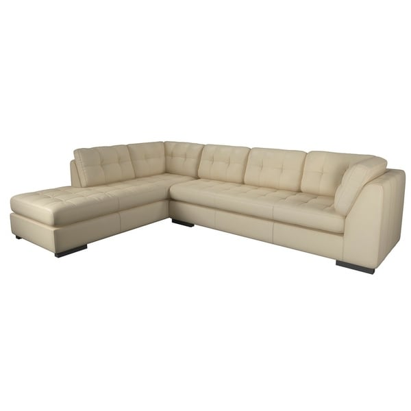 Made to Order Laguna 100% Top Grain Leather Sofa Chaise Sectional - Left Chaise Facing. Opens flyout.