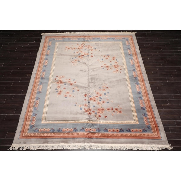 "Authentic Karastan Hand Knotted Art Deco Wool Oriental Area Rug (9'5""x13'5"") - 9'9"" x 13'9"""