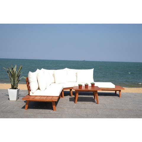 Safavieh Outdoor Living Lansen 4 Pc Corner Living Set