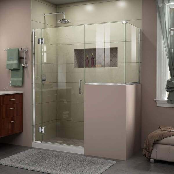 "DreamLine Unidoor-X 59 in. W x 36 3/8 in. D x 72 in. H Frameless Hinged Shower Enclosure - 36.38"" x 59"""