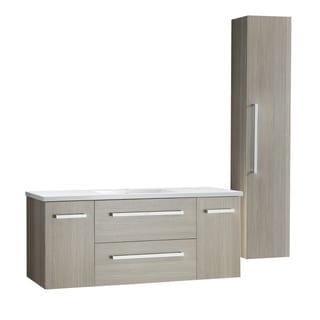 "ANZZI Conques 48"" Bathroom Vanity Set in Rich Gray"