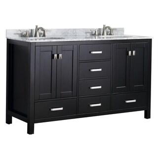"""ANZZI Chateau 60"""" Bathroom Vanity Set in Rich Black"""