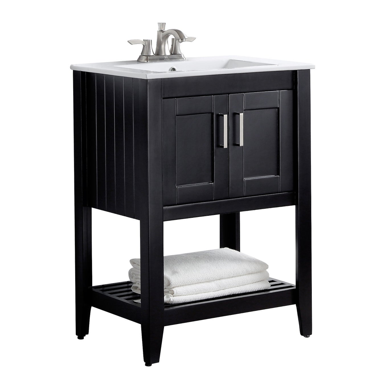 Bathroom Vanity Set In Rich Black