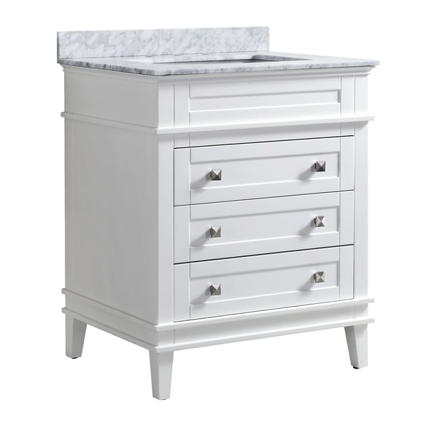 "ANZZI Wineck 30"" Bathroom Vanity Set in Rich White"