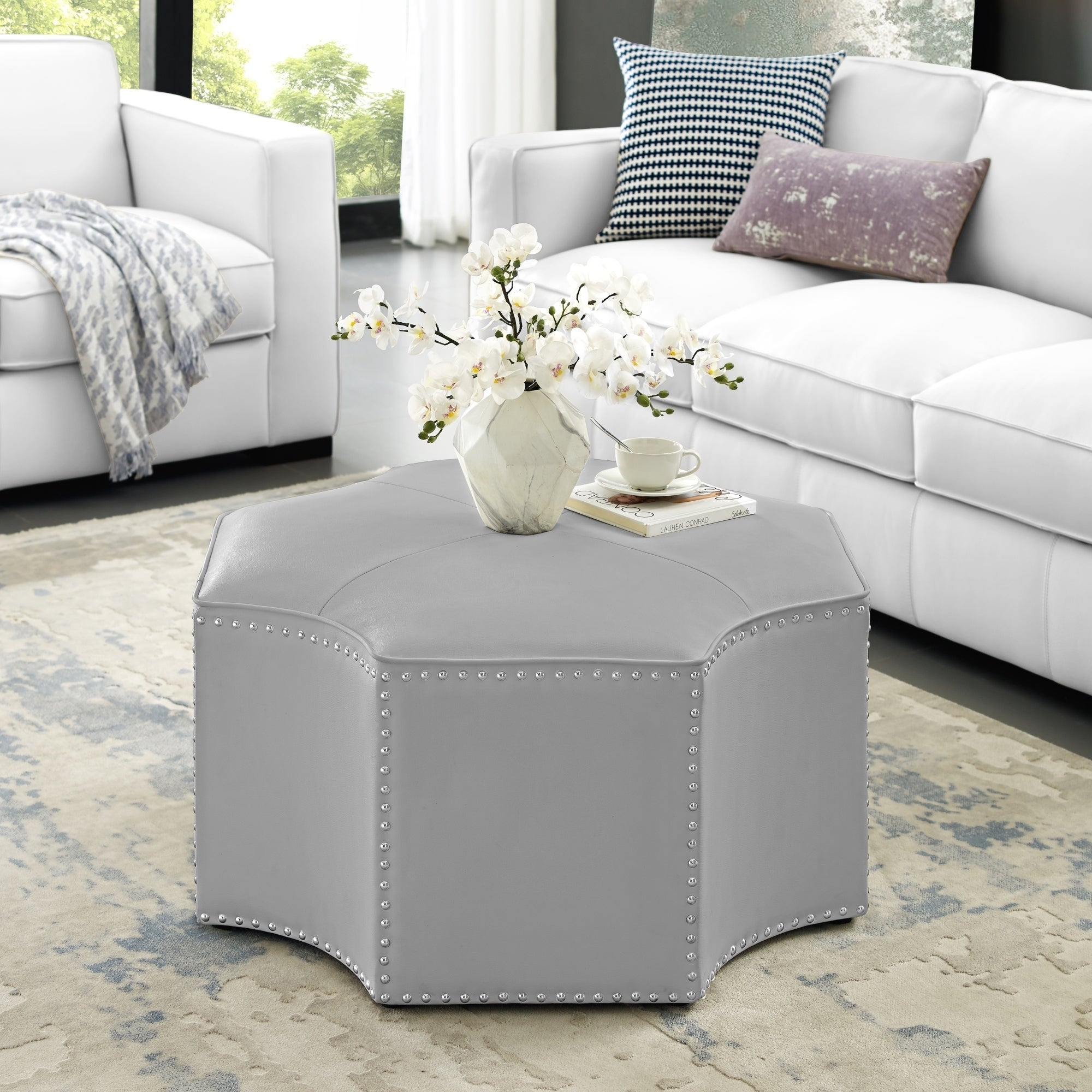 Picture of: Shop Cocktail Ottoman Nicole Miller Home Goods Discover Our Best Deals At Overstock