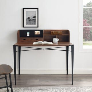 """Carbon Loft  42"""" Writing Desk with Small Hutch"""
