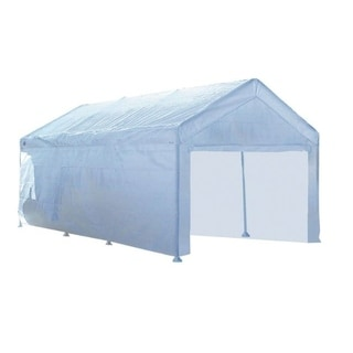 Quik Shade  Moto Shade  Polyethylene  Carport Canopy Wall Panels Kit  10 ft. W x 20 ft. L