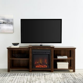 """The Gray Barn 70"""" Tiered Top Open Shelf Fireplace TV Console"""