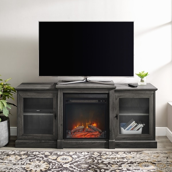 """Copper Grove 60"""" Classic Tiered Top Fireplace TV Console"""