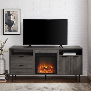 "Carson Carrington 60"" Fireplace TV Console - 60 x 16 x 28H"