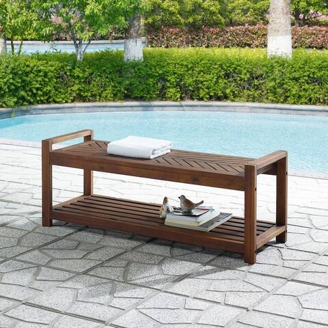 Elephant Point Outdoor Chevron Bench by Havenside Home