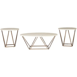 Tarica Faux Marble 3-Piece Table Set