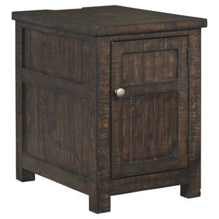 Hillcott Rustic Brown Chair Side End Table