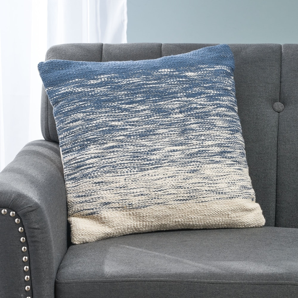 "NAVY BLUE cotton Velvet 18/"" Zipped Cushion covers"