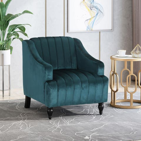 Carleson Glam Velvet Club Chair by Christopher Knight Home