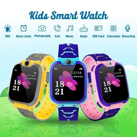 Kids Smartwatch Phone Game Watches Touch Screen Camera Watch with SOS Call for Boys Girls Children Gifts With 32GB Memory Card