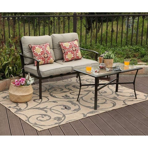 Claribelle 2-piece Loveseat Patio Padded Conversation Set by Havenside Home