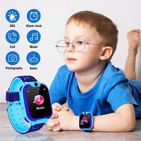 Youth/Kids Smart Watch Game Watches Touch Screen Camera Watch for Boys Girls Children Gifts with Memory Card