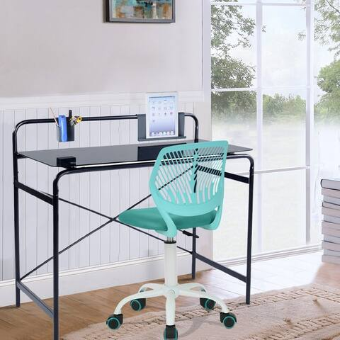 Furniture R Office Writing Table Computer Desk Glass Top