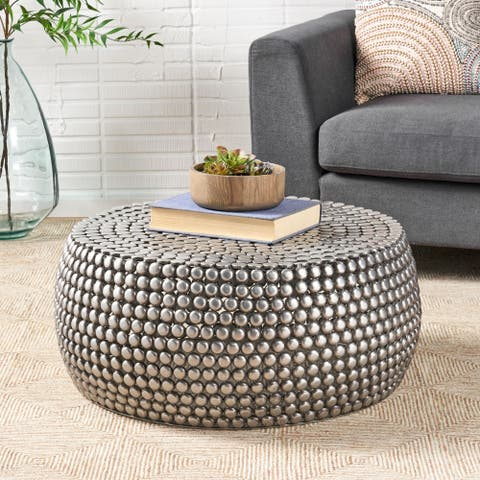 Delancey Modern Textured Coffee Table by Christopher Knight Home