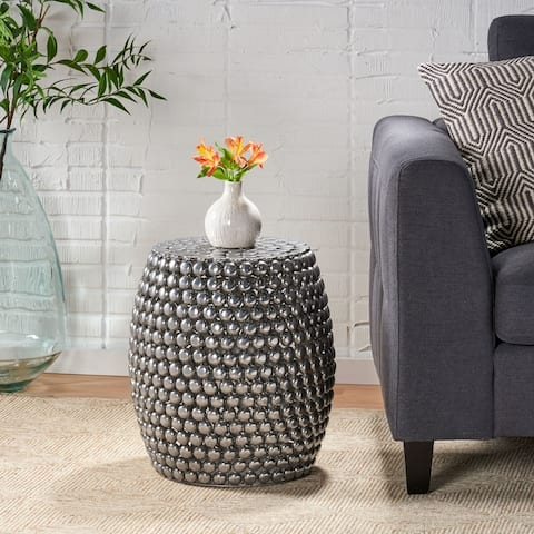 Collister Modern Textured Accent Table by Christopher Knight Home