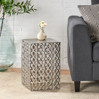 Link to Donnellon Modern Square Accent Table by Christopher Knight Home Similar Items in Living Room Furniture