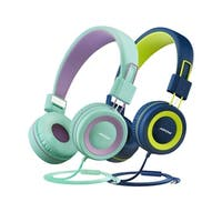 2PC Mpow Kids Headphones with Volume Limiter Comfortable On-Ear Headsets Durable Earphones for Toddlers Children and Teens