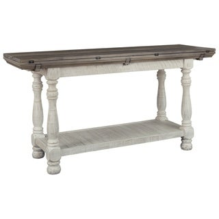 The Gray Barn Ivy Hollow Rustic Flip Top Sofa Table