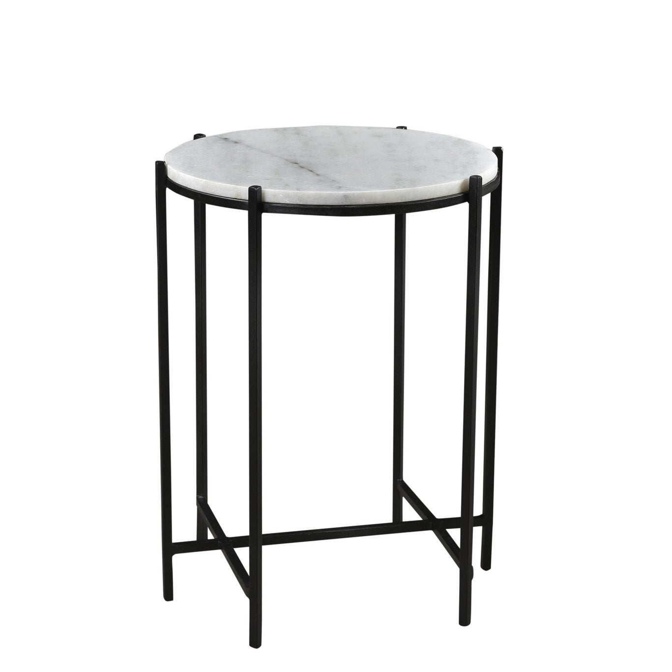 - Shop Bengal Manor Iron And Marble Accent Table - Overstock - 28795276