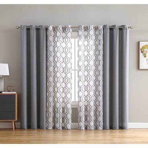Carson Carrington Ivetofta 4-piece Sheer Curtain Panel Set