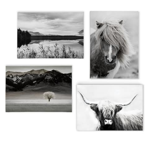 Back County I -Gallery Wrapped Canvas Set