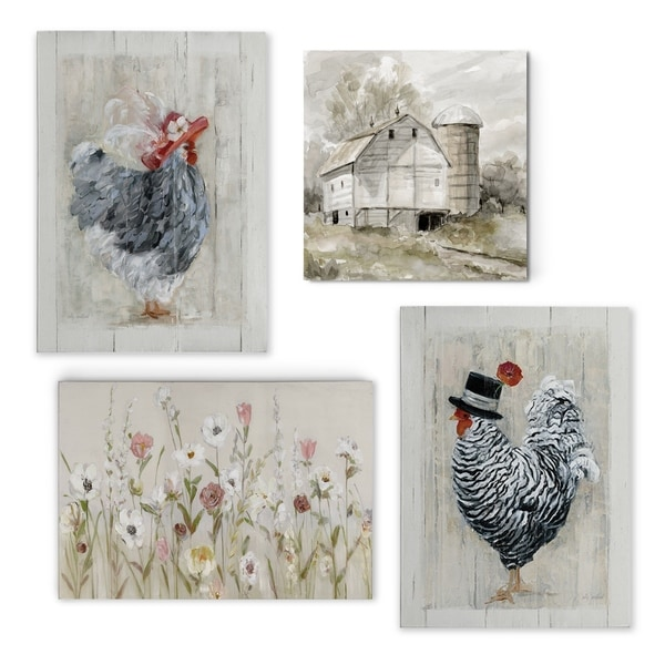 Country Cottage Array -Gallery Wrapped Canvas Set