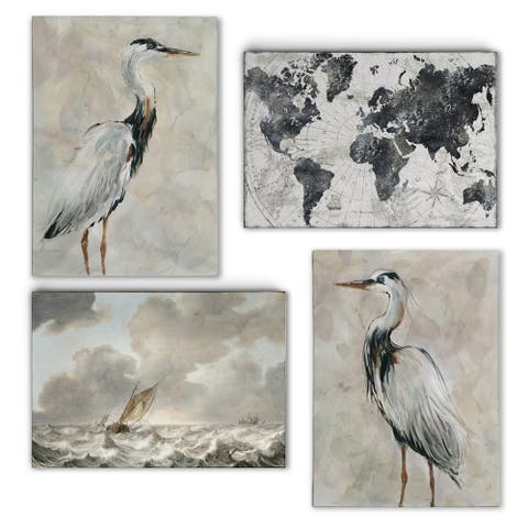Costal World Array -Gallery Wrapped Canvas Set