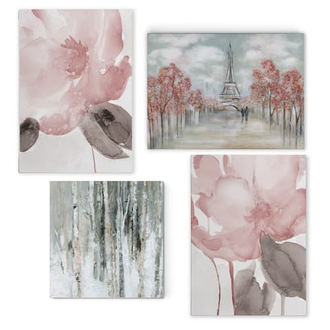 Contemporary Pink -Gallery Wrapped Canvas Set