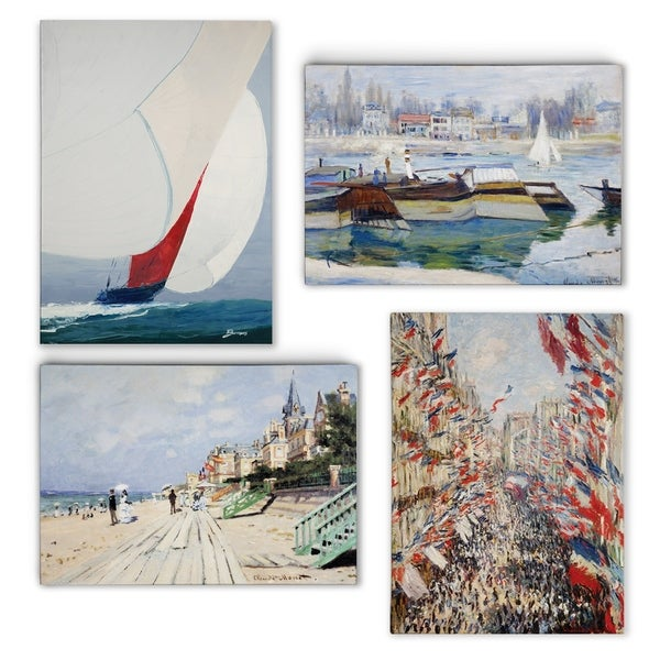 Vintage Coastal -Gallery Wrapped Canvas Set