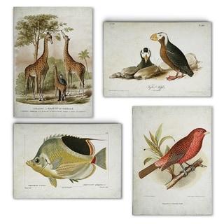 Vintage Minagreie Plates I  -Gallery Wrapped Canvas Set