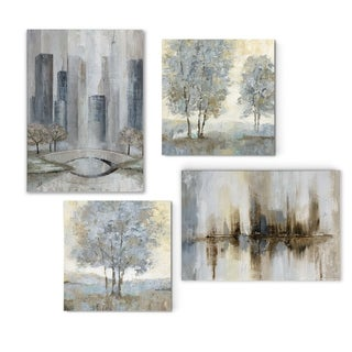 Touch of Modern Greys  -Gallery Wrapped Canvas Set