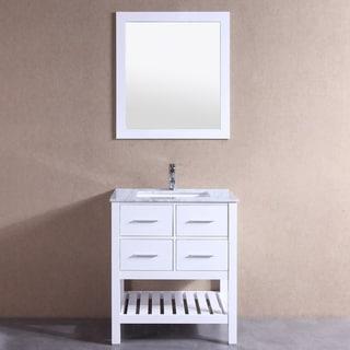 """Eviva Natalie F. 24"""" White Bathroom Vanity"""