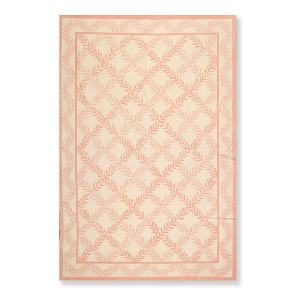 """Hand Woven French Aubusson Needlepoint Area Rug Wool (6'x9') - 6'5"""" x 9'8"""""""