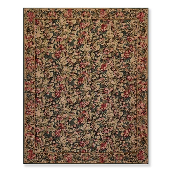 "Hand Woven French Aubusson Needlepoint Area Rug (7'9""x9'9"") - 8' x 10'"