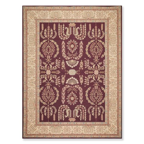 """Hand Hooked French Aubusson Wool Oriental Area Rug (8'6""""x11'6"""") - 8'6"""" x 11'6"""""""