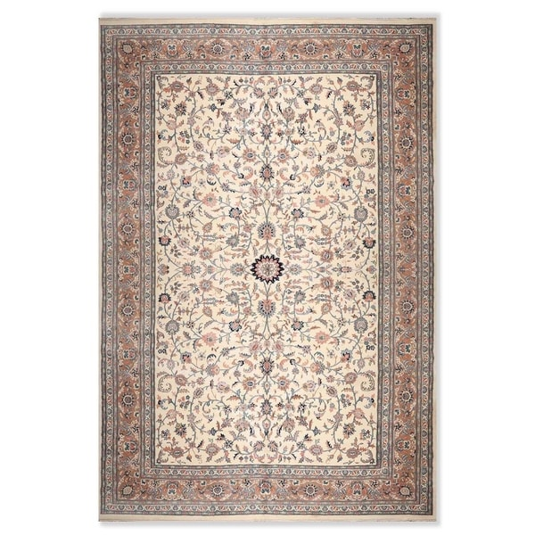 """Persian Oriental Area Rug Hand-Knotted Wool Traditional (12'1""""x18'1"""") - 10'3"""" x 13'11"""""""