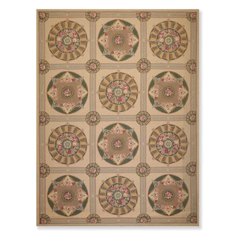 """Classic French Aubusson Hand Hooked Oriental Area Rug (8'6""""x11'6"""") - 8'6"""" x 11'6"""""""