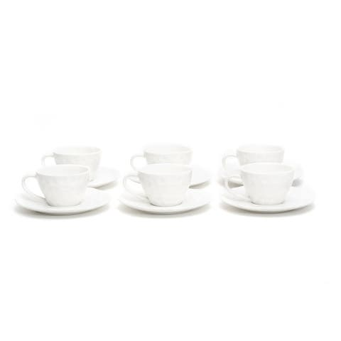 Christopher Knight Collection Lunar Tea Cup / Saucer Set of 6