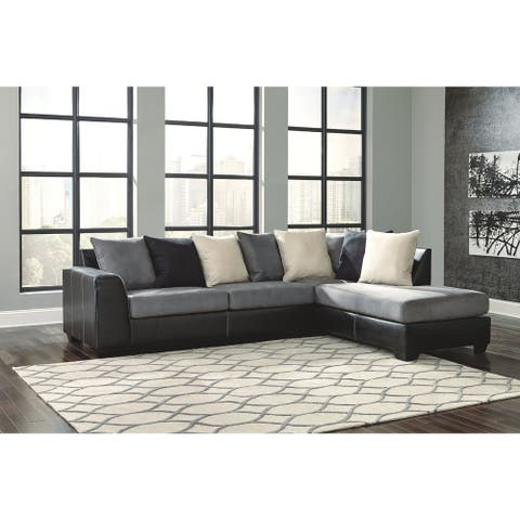 Jacurso 2-Piece Sectional with Right Facing Corner Chaise - Charcoal