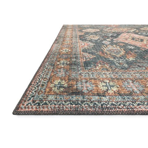 Alexander Home Leanne Traditional Distressed Printed Area Rug