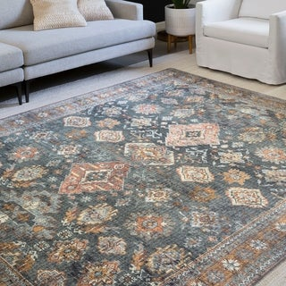 Link to Alexander Home Leanne Traditional Distressed Printed Area Rug Similar Items in As Is