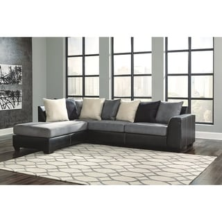 Jacurso 2-Piece Sectional with Left Facing Corner Chaise - Charcoal